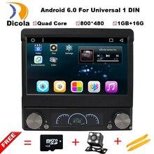 7 Universal 1 Din 800 480 Android 6 0 Car Audio DVD Player Radio GPS Autoradio