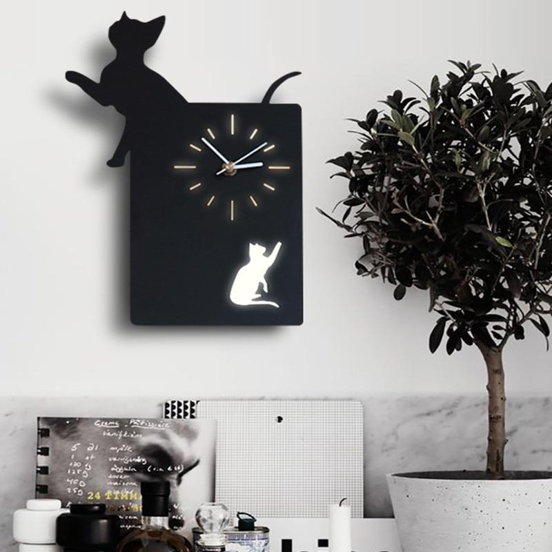 Nordique Loverly chat cerf Animal applique moderne cuisine chambre salon mur LED applique avec horloge livraison gratuiteNordique Loverly chat cerf Animal applique moderne cuisine chambre salon mur LED applique avec horloge livraison gratuite