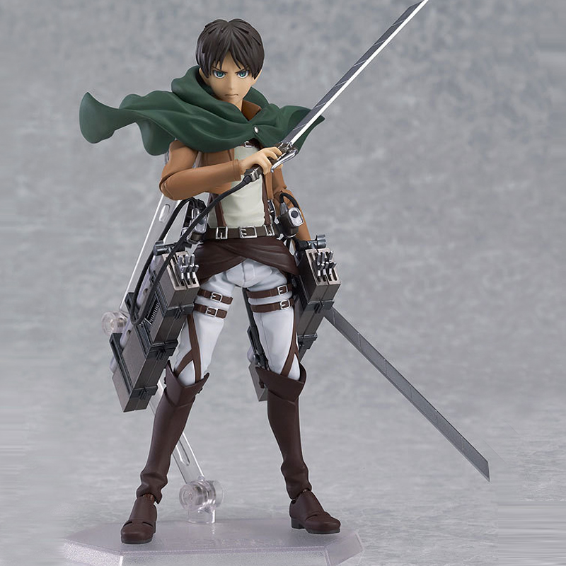 Free Shipping Attack on Titan Eren Jaeger Figma 207 PVC Action Figure Collection Model Toy 15CM Collection Best Gift