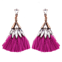 Vintage New Crystal Tassel Earrings