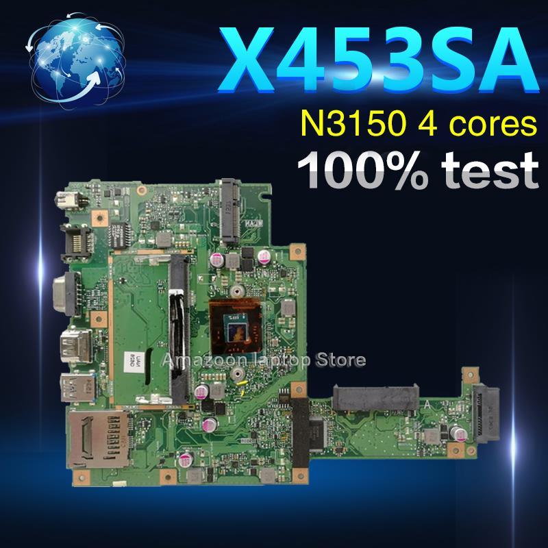 Amazoon X453SA Laptop Motherboard For ASUS X453S X453SA X453 F453S Mainboard  test 100% OK N3150 4 coresAmazoon X453SA Laptop Motherboard For ASUS X453S X453SA X453 F453S Mainboard  test 100% OK N3150 4 cores