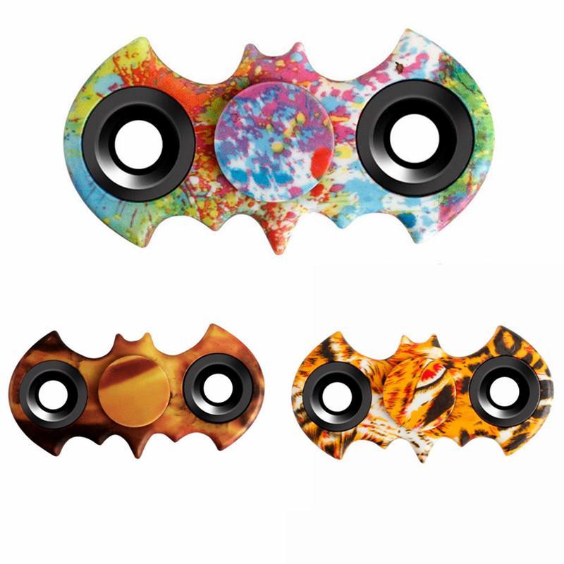 Random Color Batman Style Fidget Hand Spinner Focus Fidget Toys