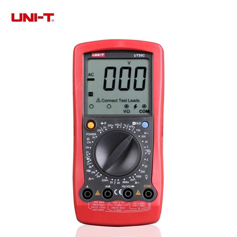 UNI-T UT58C General Digital Multimeters Ohm VoIt Meter Capacitance Temperature DigitaI UniversaI Meter