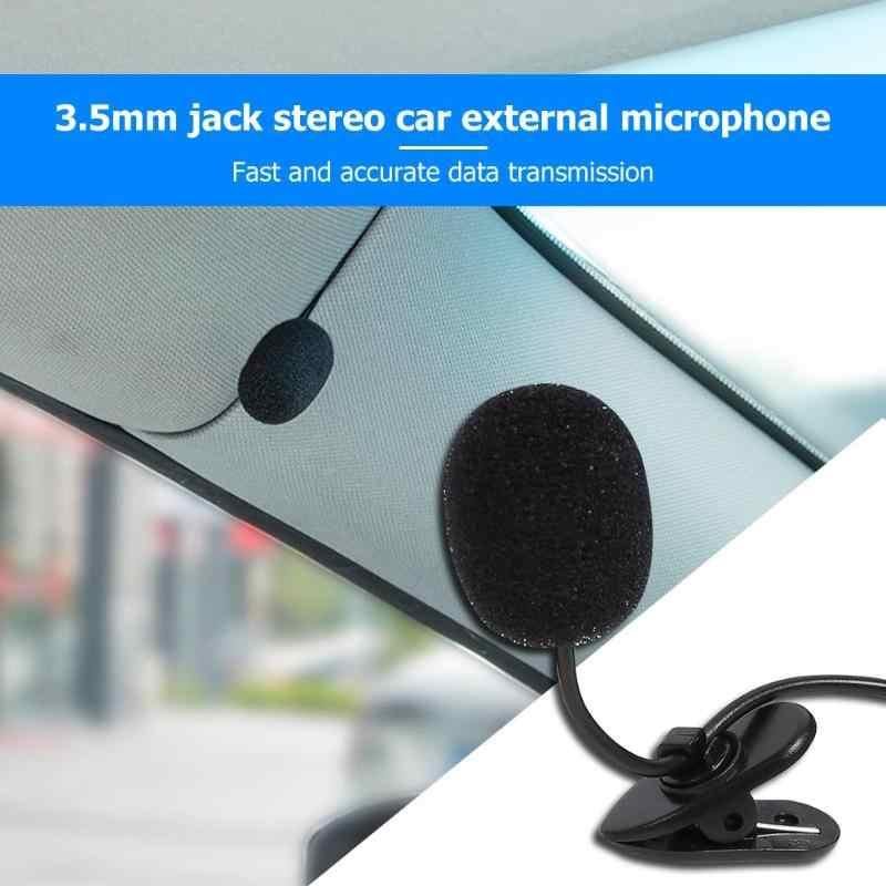 رائجة البيع 3.5 مللي متر مقبس استريو صغير سيارة ميكروفون خارجي Mic ل مشغل أسطوانات للسيارة GPS لاعب راديو الصوت ميكروفون مع السلكية