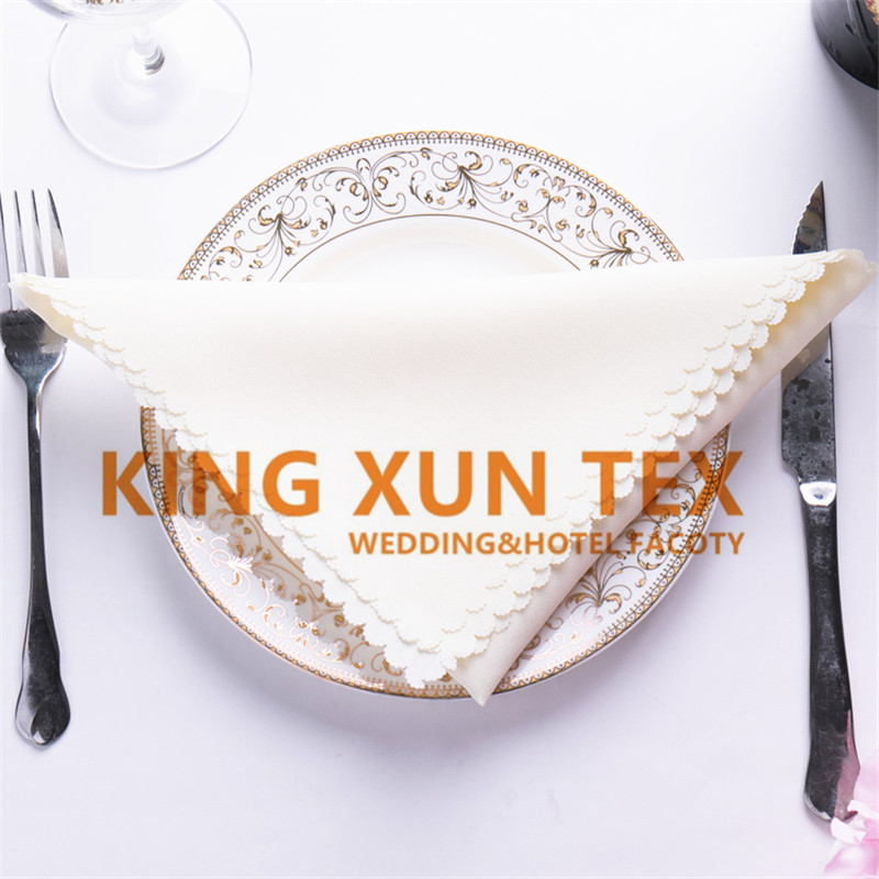45cm*45cm 100% Polyester Table Cloth Napkin For Wedding Event Decoration
