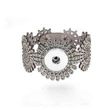 Crystal Rhinestones 055 Korean Velvet Fit 18mm Snap Button Bracelet Interchangeable Charm Jewelry For Women gift stylish cross velvet charm bracelet