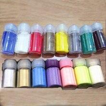 אבקת הבלטה, 10 ml 7 בקבוקים/8 בקבוקים/15 בקבוקי סט הבלטות אבקה DIY מתכתי צבע גומי חותמת רעיונות כלים