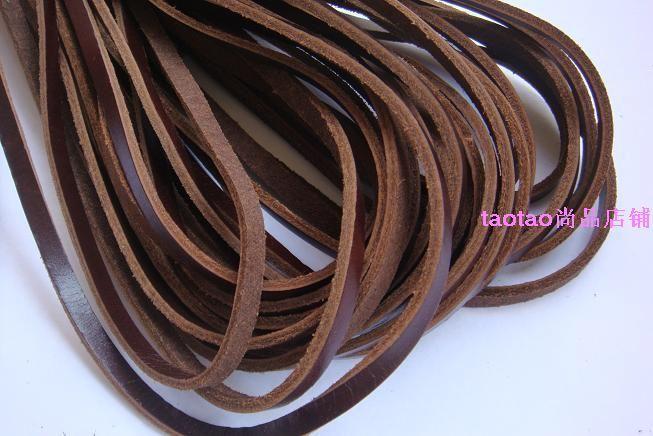 Brown Cowhide Rope Genuine Leather Cowhide Rope - Knife Handle Knitted Knife Rope Knife Lanyard 5mm