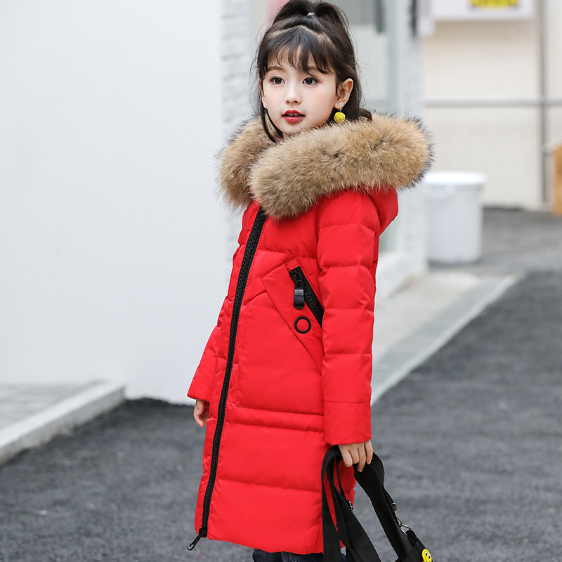 girls' medium length and extra thickness Korean Edition special winter wear, girl's children's wear and heavy coat. цена и фото