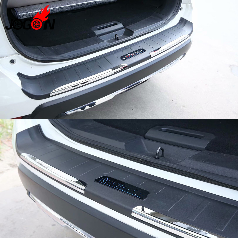 ABS Car Inner Rear Bumper Protector Tailgate Trunk Guard Sill Plate Scuff Trim Cover For Nissan