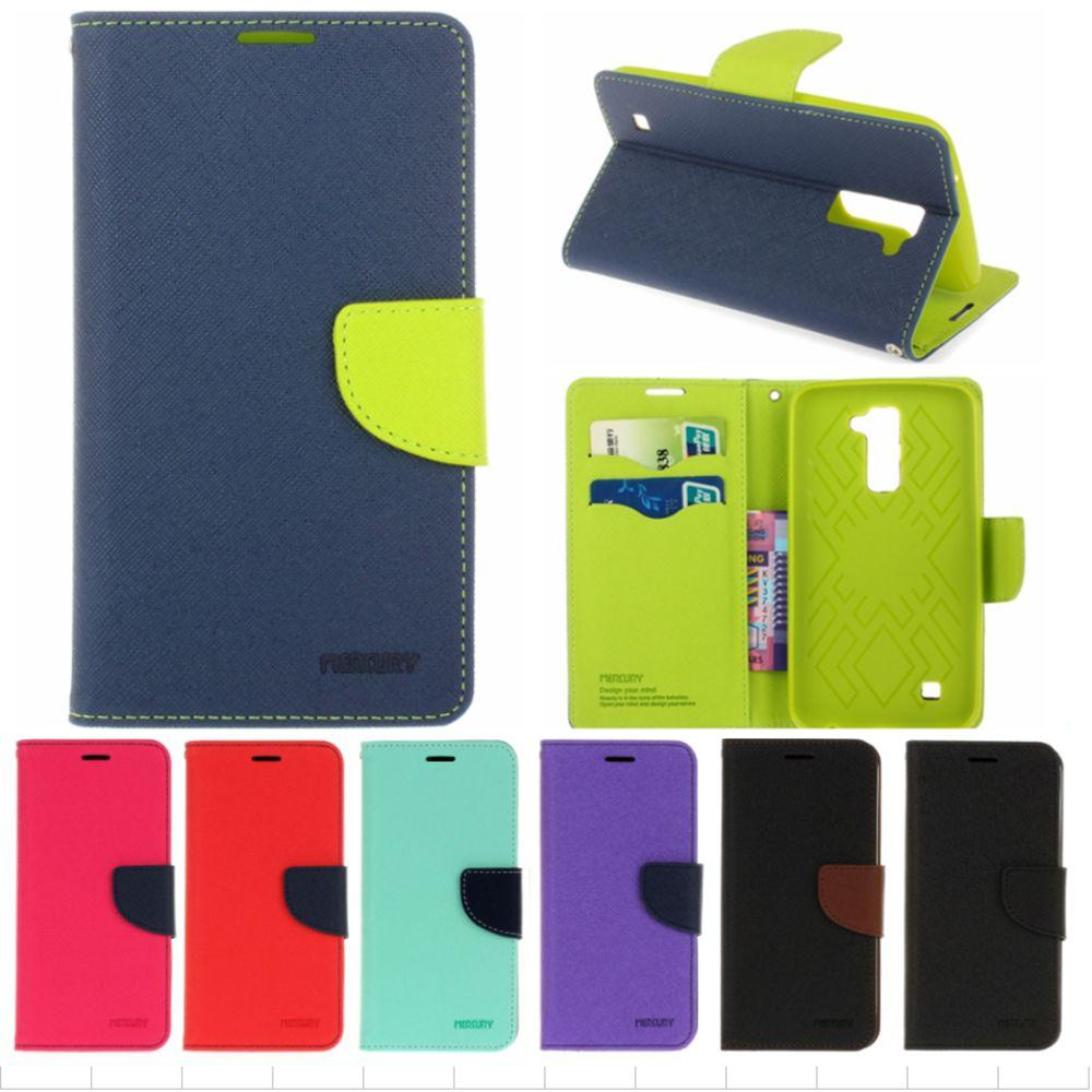 Fashion Leather <font><b>Phone</b></font> <font><b>Cases</b></font> for Fundas LG K7 <font><b>K10</b></font> LTE Flip Wallet Bag Cover for LG V10 G4 Pro Stand Hit Color Magnet <font><b>Case</b></font>
