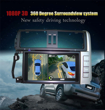 GUBANG Newst HD 3D 360 Surround View System driving support Bird View Panorama System 4 Car camera 1080P DVR G-Sensor