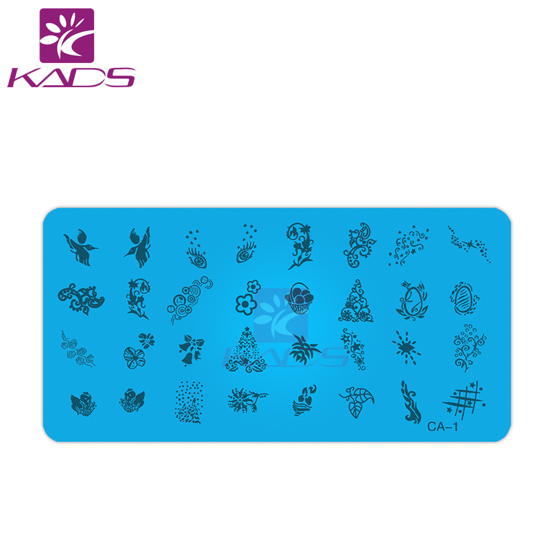 HOTSALE 500PCS/LOT CA Series 120*60MM Size Stamp Stamping Image Konad Plate Print Nail Art Template DIY сувенир konad stamping nail art image plate m80konad