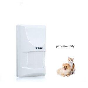 Image 1 - Wireless חיות מחמד חסינות Pir חיישן גלאי בית חכם מערכת אזעקת 433MHz חיישן תנועה עם לחבל Swtich עבור Wifi GSM g90B