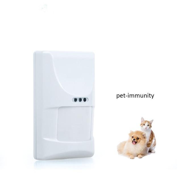 Wireless חיות מחמד חסינות Pir חיישן גלאי בית חכם מערכת אזעקת 433MHz חיישן תנועה עם לחבל Swtich עבור Wifi GSM g90B