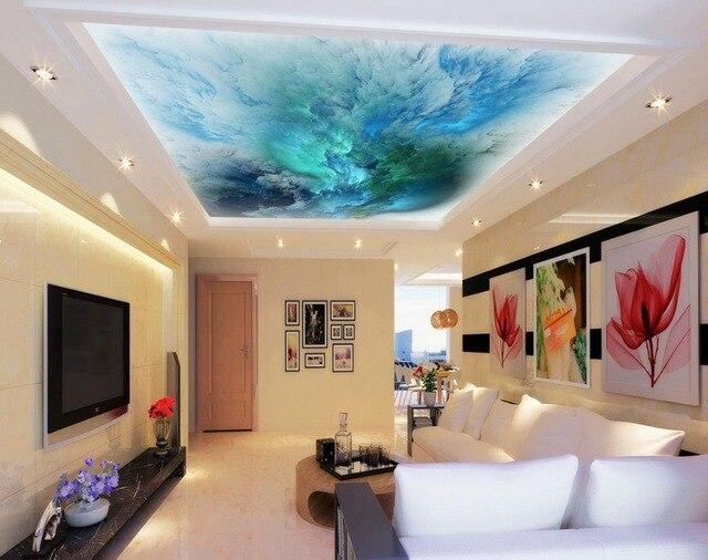 nuages qui coule couleur plafond fresques photo peintures murales papier peint 3d plafond peintures murales de