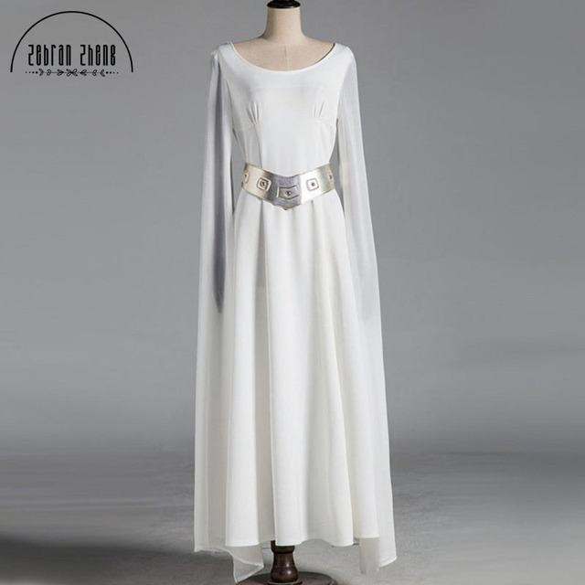 Wars Star Leia Adulte Fantaisie Cosplay Princesse Costume Halloween nwP0OkX8N
