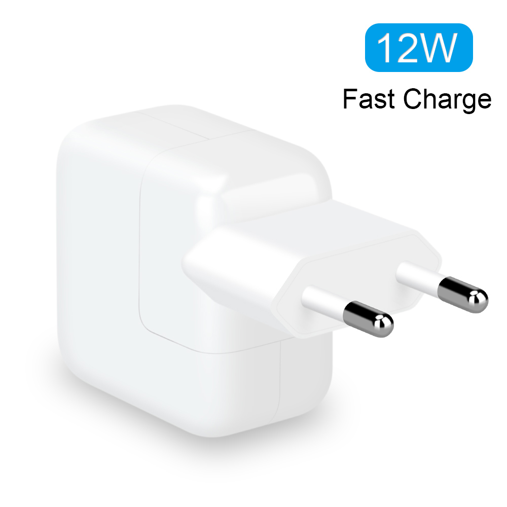 2.4A Fast Charging 12W USB Power Adapter Phone Travel Home Charger For IPhone X 8 Plus 7 6S 5S IPad Mini Air Sa M U Ng For Euro