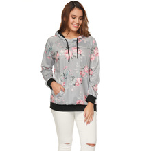 women hoodies sweatshirts ladies autumn winter fall print floral holiday sports clothing sweat shirts