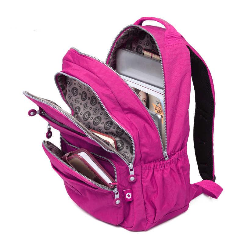 TEGAOTE школьный женский рюкзак, Mochila женские рюкзаки Водонепроницаемая нейлоновая сумка Повседневная дорожная сумка для ноутбука рюкзак для девочки-подростка