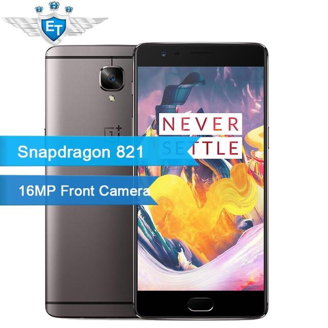 Оригинал Oneplus 3 Т Snapdragon 821 Quad Core 5.5 Дюймов 1080 P 6 ГБ RAM 64 ГБ ROM 4 Г FDD Сотовый Телефон 16.0MP Отпечатков Пальцев Быстрая Зарядка