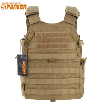 EXCELLENT ELITE SPANKER Outdoor Molle Hunting Vests Military Camouflage Tactical Vest Outdoor Jungle CS Equipment For Men's Vest new outlife camouflage hunting military tactical vest wargame body molle armor hunting vest cs outdoor jungle equipment