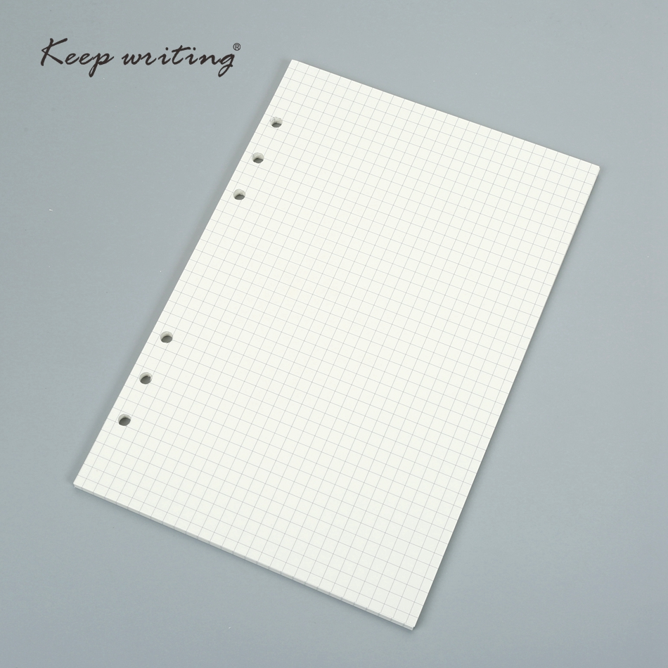 A4 B5 A5 woodfree paper, check lined dots blank spiral notebook ...