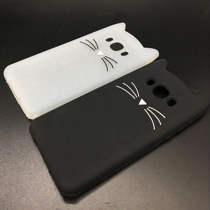New Japan Cute 3D Glitter Beard cat soft silicon phone case For samsung galaxy j510 j3 j7 j5 2016 j710 Cartoon Coque back cover (4)