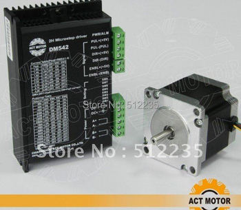 nema 23 stepper motor 57 stepper motor 56MM  + DM542 driver segments 4A 128 segments stepping motor
