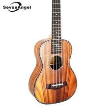SevenAngel 26″ Ukulele Tenor Acoustic Mini guitar KOA Sweet Acacia Uke Rosewood Fretboard Electric Ukelele with Pickup EQ
