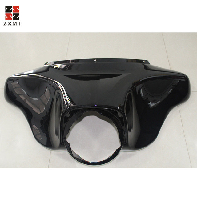 ZXMT Glossy ABS plastic Front Batwing Outer Fairing fit for Harley Touring Modles 1996-2013