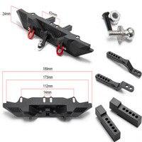 1PCS black1/10 RC Car Metal Rear Bumper for TRAXXAS TRX 4 Upgrade Parts #C