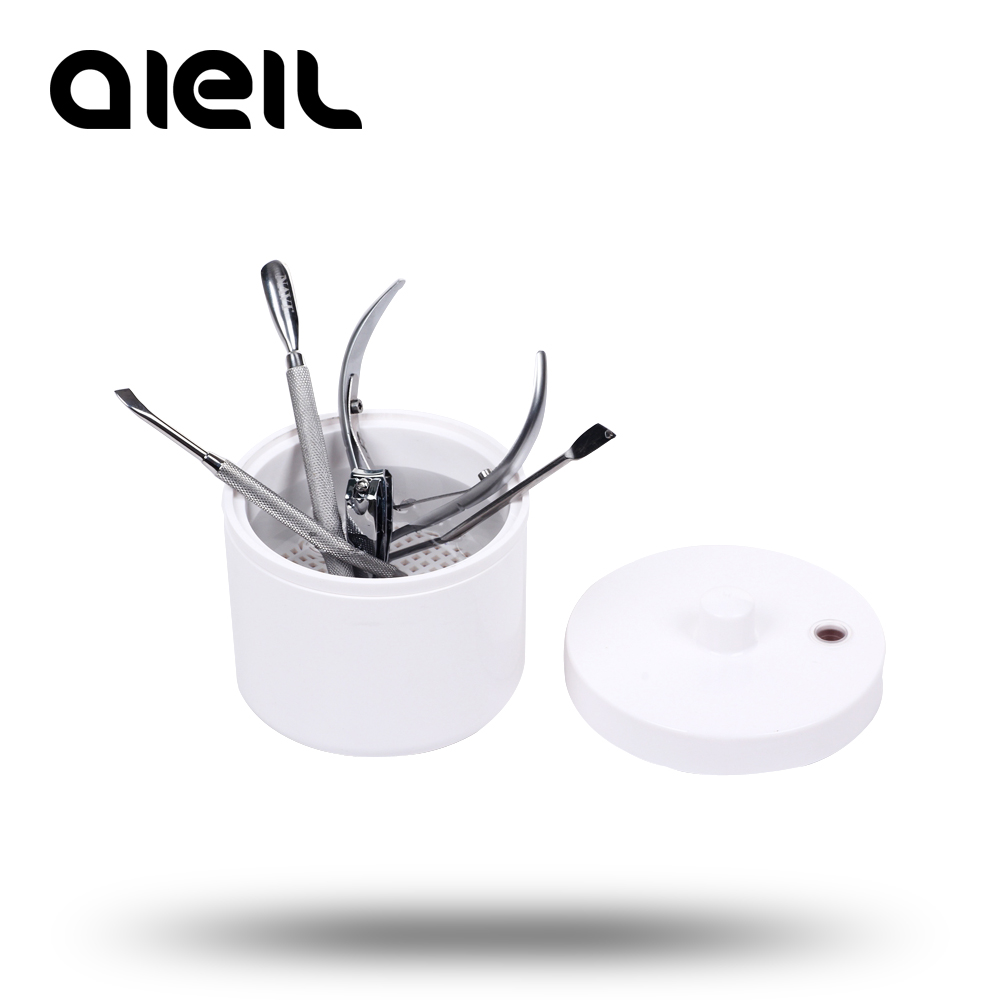 Mini Sterilizer Box Nail Cutter Manicure Tool Nail Drill Mini Nail Drill Bits Cleaner Nail Art Tool Cleaner