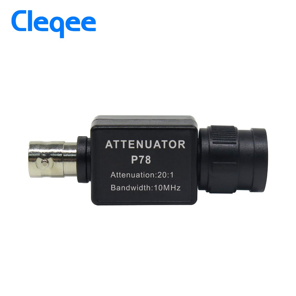 Cleqee P78 20:1 Signal Attenuator 10MHz Bandwidth Oscilloscope Accessories BNC Adapter Oscilloscope HT201 Upgrade Version
