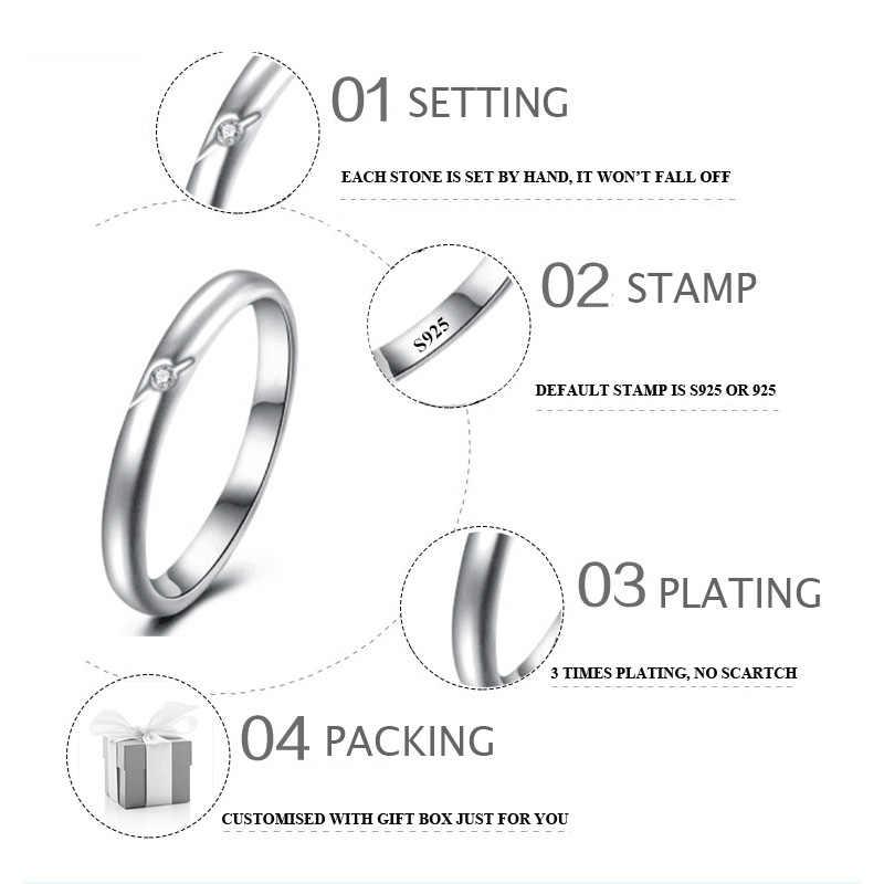Sona ไม่ปลอม S925 แหวนเงิน solitaire SONA เพชร VS Clarity 0.02 กะรัตหรูหราประณีตแหวนคลาสสิก hola
