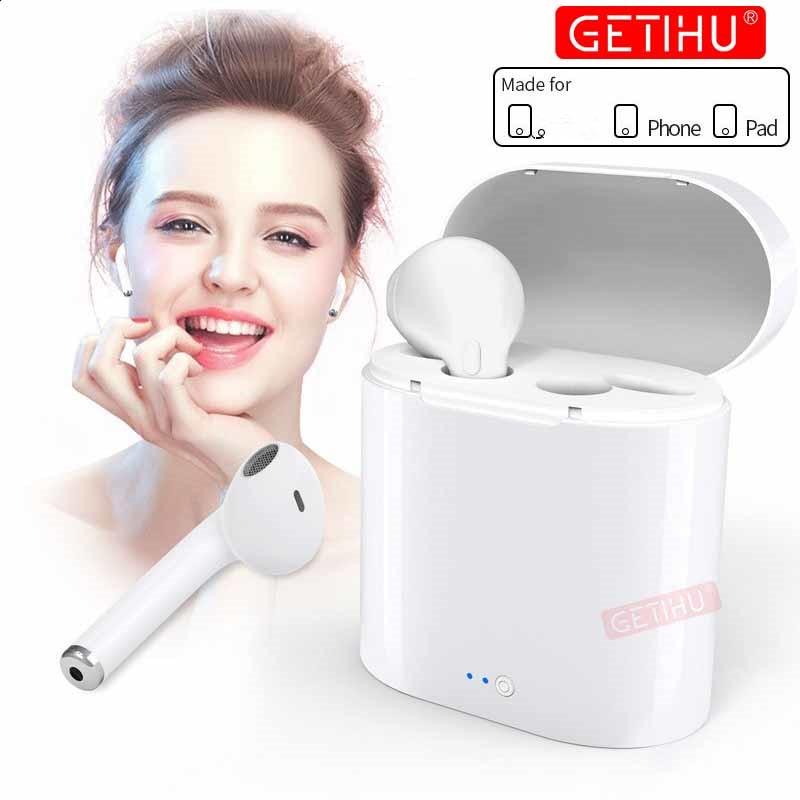 Mini Bluetooth Oortelefoon draadloze hoofdtelefoon Lucht In Ear Oordopjes Sport Headset Stereo Oortelefoon pods Voor Apple Voor iPhone XS MAX 6