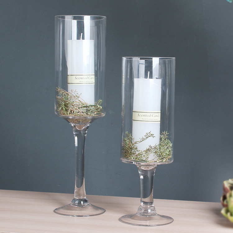 10pcs30cm40cm Tall Transparent Clear Glass Wedding Table