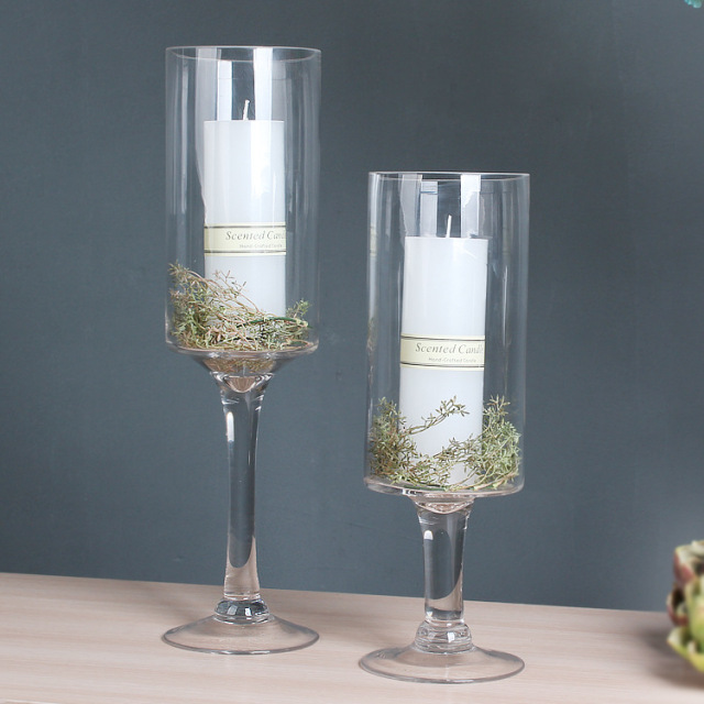 10pcs 30cm 40cm Tall Transparent Clear Glass Wedding