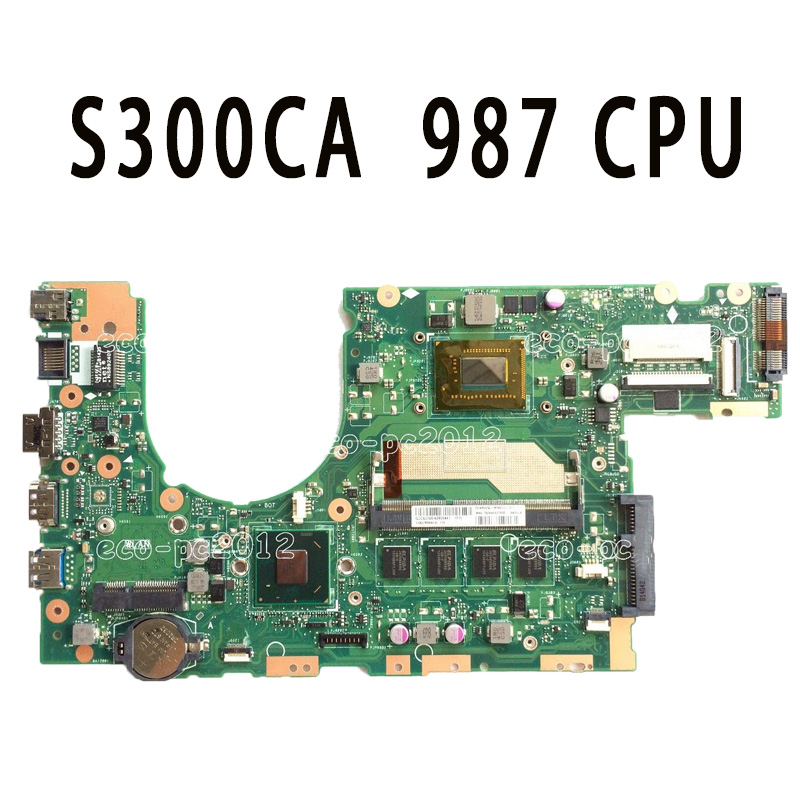 Original S300CA Laptop Motherboard 987 CPU REV2.0 S300CA mainboard Fully tested & working for asus x550lc laptop motherboard with i5 4200u cpu rev 2 0 mainboard fully tested