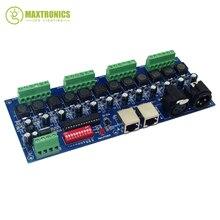 Best цена 1 шт. 700ma постоянный ток 12 канала DMX512 декодер белое RJ45 РЛ 3 P использовать для прокладки водить свет лампы
