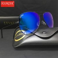Vintage Real Glass Lens Pilot 62mm Sunglasses Goggle Men Women Driving Mirror G15 Gradient UV400 Sun Glasses Eyewear With Case