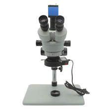 Best Buy Trinocular Stereo Microscope 3.5X-90X Continuous Zoom Magnification with 1080P HDMI USB Camera Large Workbench LED Light Source