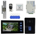 DIYSEUCR Strike Lock Video Door Phone Intercom Doorbell Home Security Touch Camera Monitor RFID Reader Home Entry Intercom