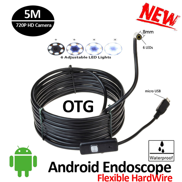Aliexpress.com : Buy 8mm 720P Android USB Endoscope Camera 5M ...