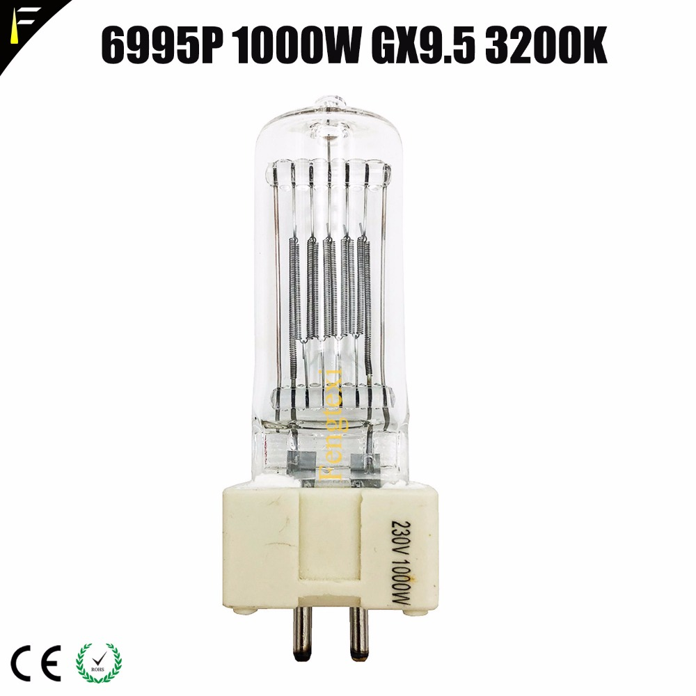 Studio Quartz Lamp 6995P 1000W Socket GX9.5 CP / 70 (CP / 24) Quartz Lamp Special Bulb Photography Bulb 3200K Return Light 1000wStudio Quartz Lamp 6995P 1000W Socket GX9.5 CP / 70 (CP / 24) Quartz Lamp Special Bulb Photography Bulb 3200K Return Light 1000w