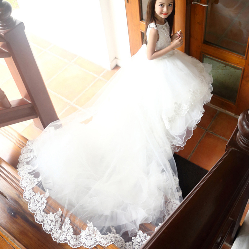 Girls wedding clothing Baby Girls Princess Long Dress Girl Wedding Party Dress Infant Carval Costumes for Kids Ball Gowns