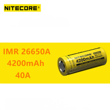 1 pcs Nitecore IMR26650A IMR 26650A 4200 mAh 40A high rechargeable battery drain Ideal for Vaping devices