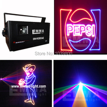 Mini Analog Modulation ILDA 2000mW RGB animation laser projector,RGB laser light