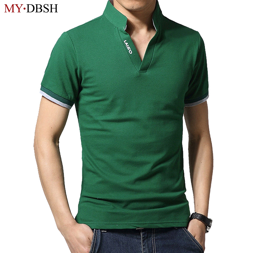 2018 New Arrival Summer Short Sleeve Male Polo Shirt Men 12 Colors Fashion Slit Fit Men's Casual Polo Shirts Plus Size S-5XL