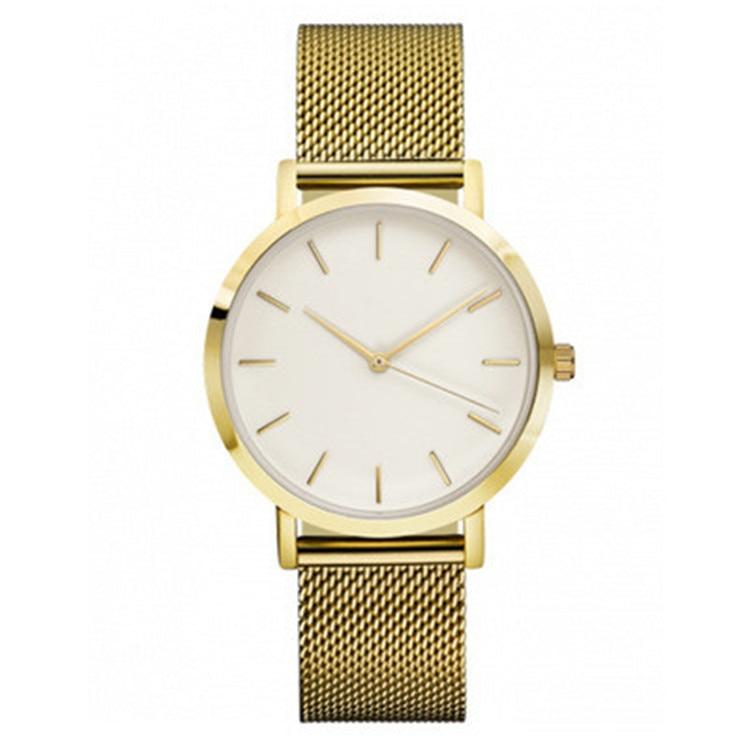 2019 New ROSEFIELD Famous Brand Casual Quartz Watch Women Metal Mesh Stainless Steel Dress Watches Relogio Feminino Clock Rated